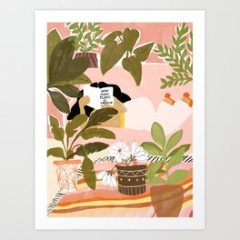 How Many Plants Is Enough Plants? Art Print