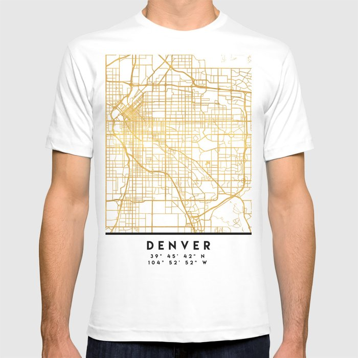 Denver Colorado City Street Map Art T Shirt By Deificusart Society6