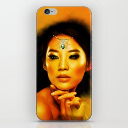 Green Eyed Beauty iPhone Skin