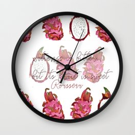 passion fruit. Wall Clock