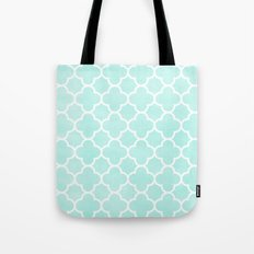 MOROCCAN {TEAL & WHITE 2} Tote Bag