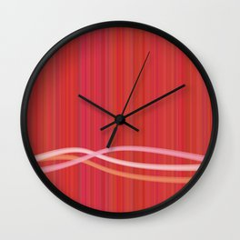 Strawberry Waves Wall Clock