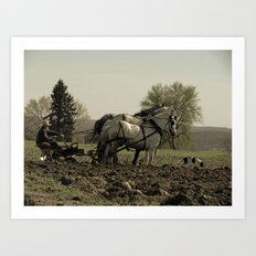 Tilling the Fields Art Print