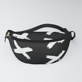 The X White on Black Fanny Pack