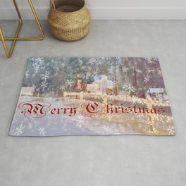 Country Merry Christmas Rug