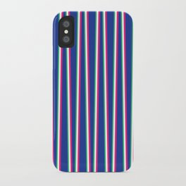 Between the Trees Blue, Pink & Green #571 iPhone Case