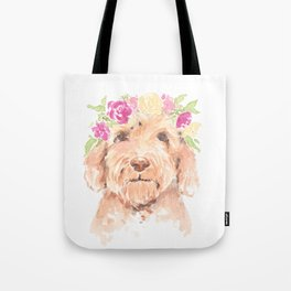 golden doodle watercolor Tote Bag