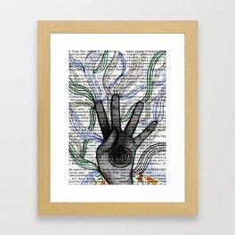 Hand Coding  Framed Art Print