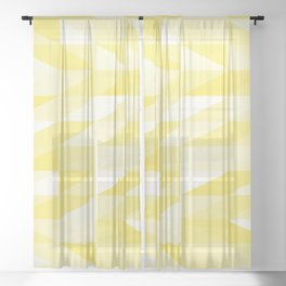 Messy yellow triangles texture Sheer Curtain