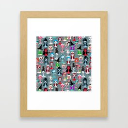 Spooky Dolls Framed Art Print
