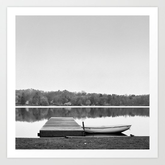 Boat at Dock Art Print