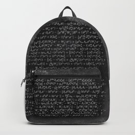 the Closest Thing We Have to a Master Equation of the Universe Backpack
