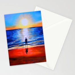 Beach sunset in Cape Leveque, Western Australia Stationery Cards