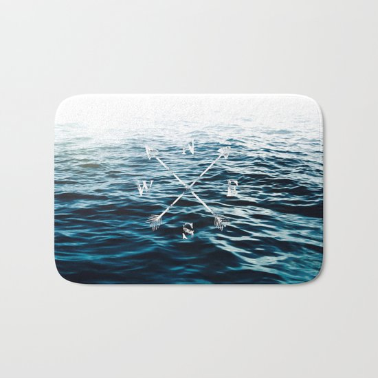 Winds of the Sea Bath Mat