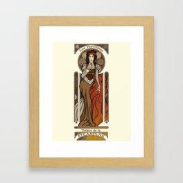 Steampunk Nouveau- Cream Framed Art Print
