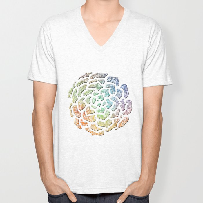 Abstract Roses 2 Unisex V-Neck