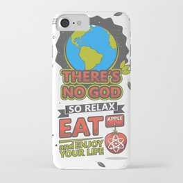 There's no God poster iPhone Case