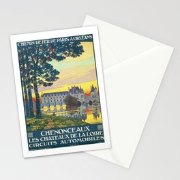Paris a Orleans vintage travel poster Stationery Cards