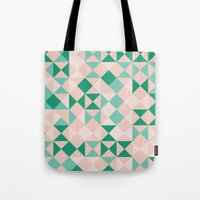 emerald Tote Bags featuring Emerald  by Leandro Pita