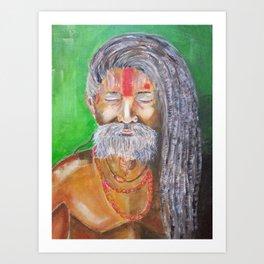 Holly Man Acrylic Canvas original painting Art Print