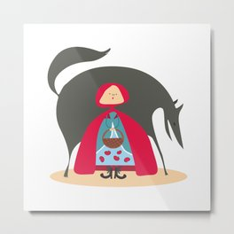 Little Red Riding Hood Metal Print