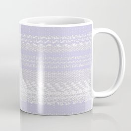 Big Stich Lavender - Knitting Fabric Art Coffee Mug