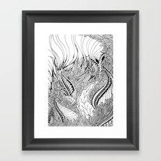 Enter the Forest Framed Art Print