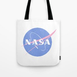Pastel Nasa Logo Tote Bag