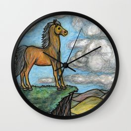 When Nature Notices You're a Little Horse Wall Clock