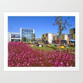 Colors of Ozyegin - Pink Art Print