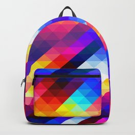 Abstract Colorful Decorative Squares Pattern Backpack
