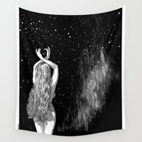 apollonia Wall Tapestries featuring asc 604 - L'invocation à Vénus (Venus under the sky) by From Apollonia with Love