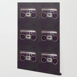 Retro Boombox Wallpaper