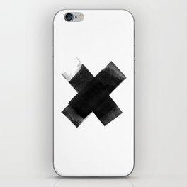 The Black X  iPhone Skin