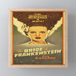 Bride of Frankenstein reproduction poster print Framed Mini Art Print