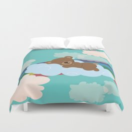 Teddy Bear and clouds Duvet Cover