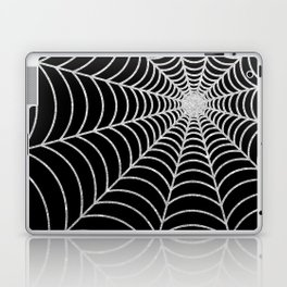 Spiderweb | Silver Glitter Laptop & iPad Skin