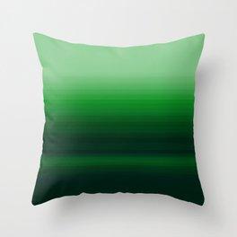 Emerald Green Stripe Design Throw Pillow