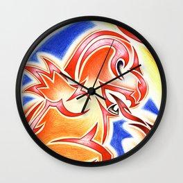 Tribal Char Wall Clock