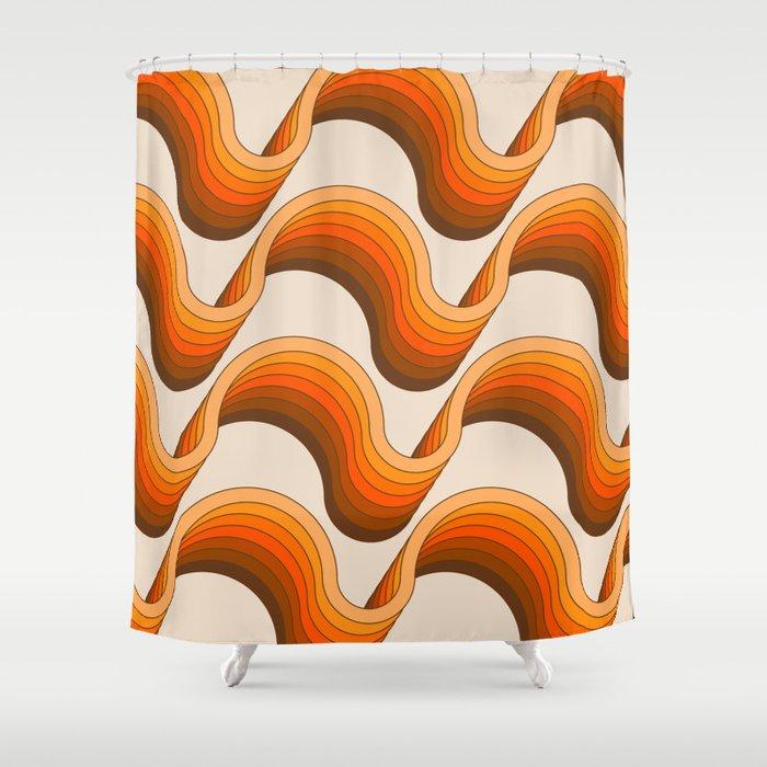 Golden Ribbons Shower Curtain