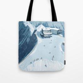 Skiing in Austria Tote Bag