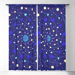 Blue Ray Star Mandala Blackout Curtain