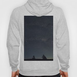 Starry night over the trees Hoody