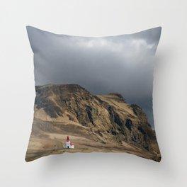 Church in Vik Iceland Throw Pillow