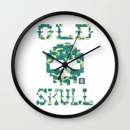 Old Skull Light Military (Militar Claro) Wall Clock