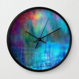 Rain Curtain Wall Clock