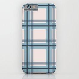 Winter Plaid in Blue iPhone Case