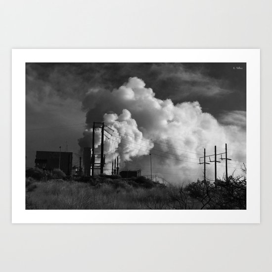 Geothermoelectrical smoke Art Print