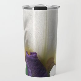 Violet and white Iris 'Wabash' Travel Mug