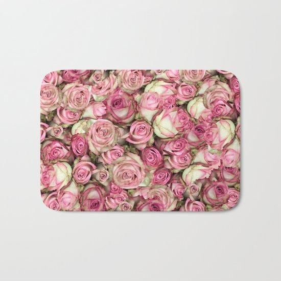 Your Pink Roses Bath Mat